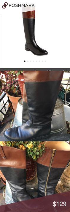 Enzo angiolini riding boots Enzo angiolini black and brown riding boots ( worn 2x ) Enzo Angiolini Shoes Heeled Boots