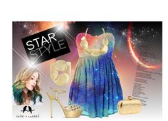 """Galaxy Star Style"" by kendra-pinca on Polyvore"