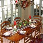 Four Beautiful Christmas Table Settings, One Gorgeous Victorian Home