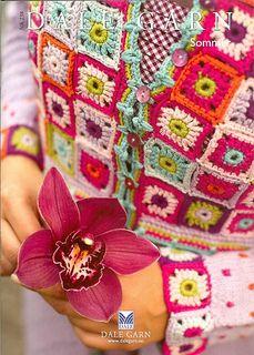 Ravelry: 23801 Jakke med heklede ruter pattern by Sidsel J. Crochet Coat, Crochet Bebe, Crochet Jacket, Crochet Granny, Crochet For Kids, Crochet Yarn, Crochet Clothes, Crochet Stitches, Crochet Patterns