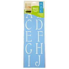 <div><div>Simple script alphabet stencil makes it easy to customize your walls and craft project...