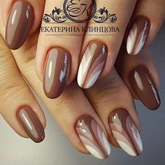 Идеи маникюра unghie bianche, unghie gel, manicure, smalto per unghie, unghie graziose Brown Nails, White Nails, Nail Pink, Fabulous Nails, Gorgeous Nails, Beautiful Nail Art, Stylish Nails, Trendy Nails, Gel Nails