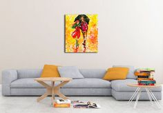Walking in the rain - Canvas Walking In The Rain, Couch, Canvas, Furniture, Home Decor, Tela, Settee, Decoration Home, Sofa