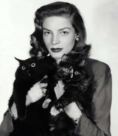 30 millions d'amis magazine aime... Lauren Bacall and cat ~chat
