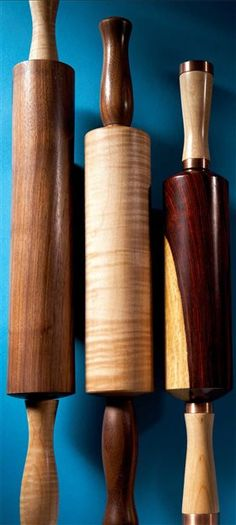 Tim's Rolling Pins Even an ordinary kitchen tool can be beautiful. By Tim Heil  If you're looking for an easy-to-make gift for someone who loves to cook, here it is: a custom-made rolling pin. There's something about this humble tool that really appeals to the imagination. Once I got started making rolling pins, I couldn't stop. I took a dozen different ones to a charity auction, and guess what …