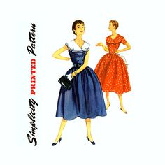 1950s Dress Pattern Bust 31 Simplicity 1011 Full by CynicalGirl