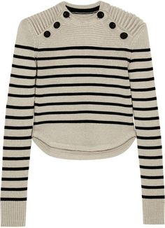 Isabel Marant Hatfield Striped Merino Wool-Blend Sweater: