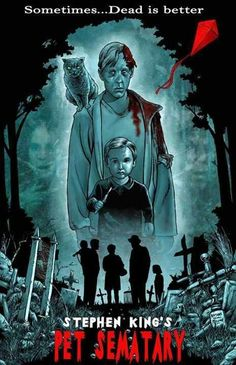 Paramount Pictures has found the filmmakers who'll bring back to life Pet Sematary, a new version of the Stephen King bestselling novel that was first brought to the screen in a creepy 1989 m… Halloween Movies, Halloween Horror, Scary Movies, Good Movies, Pet Sematary, Horror Movie Posters, Cinema Posters, Horror Movie Characters, Film Posters