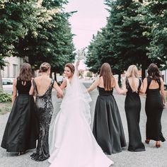 514ab881e A DIY Vogue Magazine Wedding. Pastel Bridesmaid DressesBlack BridesmaidsBrides  ...