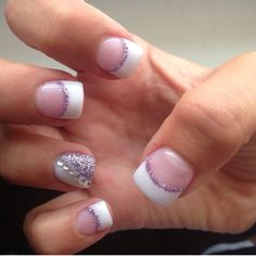 French tip nails, purple french manicure, homecoming nails, hot nails, hair Em Nails, Blue Nails, White Nails, Hair And Nails, Homecoming Nails, French Tip Nails, Holiday Nails, Wedding Nails, Beauty Nails