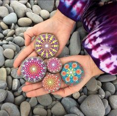 stones paint mandala tinkering with stones