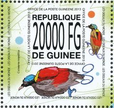Wilson's Bird-of-paradise stamps - mainly images - gallery format