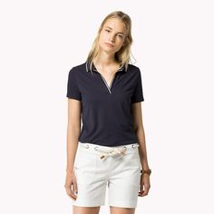 Tommy Hilfiger Cotton Modal Polo - night sky (Blue) - Tommy Hilfiger Polos - main image