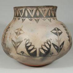 Historic Cochiti Pueblo Historic Jar with Collar Neck - 25711 - #adobegallery