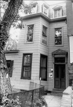 Home of Baltimore photographer David Bachrach home on Linden Avenue.