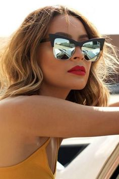 054c67d303e Quay Australia x Desi Perkins T. Cat Eye Sunglasses in Black Mint Mirror