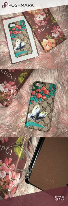 Floral case fits iPhone 8/7/6 Fits iPhone 8/7/6 all same case size new in box just got a new phone doesn't fit Gucci Accessories