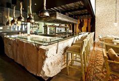 Nectar restaurant by R79 Merida Mexico. Boulder bar.