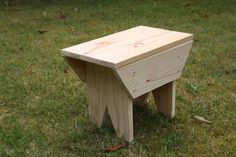 DIY wooden country bench.