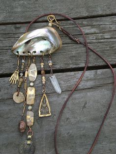 Shell amulet necklace www.maggiezee.blogspot.com