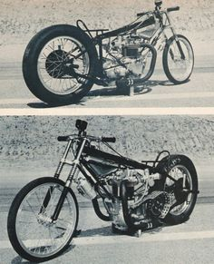 Fast is fast...: Early drag bikes.