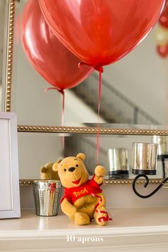 This DIY Winnie the Pooh birthday party is too cute! With tons of Winnie the Pooh birthday party ideas, this is your Winnie the Pooh birthday party guide. Happy birthday, little one! It'd make a great Winnie the Pooh baby shower, too. the pooh babyshower Winnie The Pooh Themes, Winnie The Pooh Birthday, 1st Boy Birthday, Boy Birthday Parties, Birthday Diy, Birthday Ideas, Disney Birthday, Birthday Pictures, Baby Shower Themes