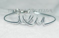 Handmade I LOVE YOU Wire Script Bangle Vintage DIY Jewelry Women Baby Bracelet Gold or Silver  Custom Orders Accepted on Etsy, $12.00 Diy Jewelry, Jewelery, Women Jewelry, Unique Jewelry, Leo Club, Baby Bracelet, Vintage Diy, Bangles, Bracelets