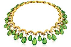 peridot and diamonds necklaces pics | Peridot and Diamond 'Mezzaluna' Necklace