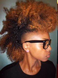 Natural Hairstyle I like the color. Maybe in red. Again, I am in love with the shaved side. *sigh* maybe next lifetime