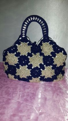 Crochet hand bag by Ashlea's Designs