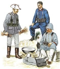 International Forces, Boxer Rebellion, 1900 Private, German East Asia Brigade Private, Italian Bersaglieri rivate 1st Class, French Marine Infantry