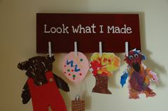 kids' art display