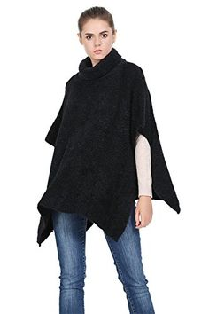 Women's Pullover Sweaters Warm Turtleneck Winter Shawl Cape Poncho Wrap -- Continue to the product at the image link. (This is an affiliate link) Winter Leggings, Pullover Sweaters, Women's Sweaters, Shawl, Sweaters For Women, Normcore, Turtle Neck, Warm, Black