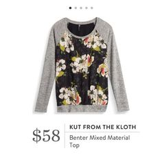 Stitch Fix: Kut From The Kloth Benter Mixed Material Top - Love the mixed materials and casual vibe.