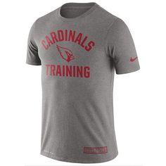 NFL Men's Arizona Cardinals Nike Heathered Gray Training Performance T-Shirt
