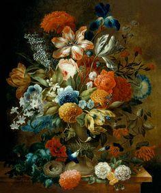Image: Ottmar the Elder Elliger - Flower Still Life with Bird Nest
