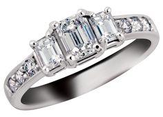 18K Palladium White Gold W/1CTW Anniversary Ring