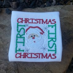 First Christmas Applique Shirt by NoOdLeSBoutique on Etsy