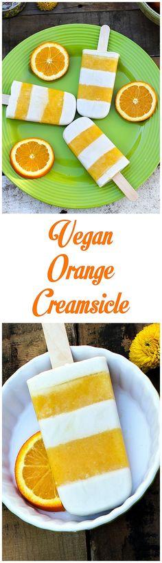 Orange Creamsicle Pops - Vegan - http://veganhuggs.com/orange-creamsicles-vegan/