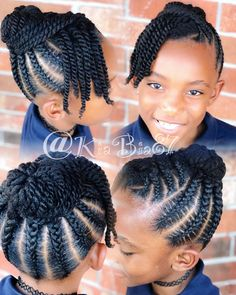 Lil Naturals 🤩 - Little black girl hairstyles Lil Girl Hairstyles, Black Kids Hairstyles, Natural Hairstyles For Kids, Kids Braided Hairstyles, African Braids Hairstyles, Toddler Hairstyles, Hairdos, Little Girl Braids, Braids For Kids