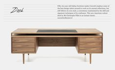 Ceccotti desk - but replace some of the elements with welded steel tube. Round tube perhaps.