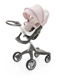 Beautiful Summer strolls with Baby ahead! Check out Stokke's NEW Faded Pink Summer Kit. Fits all full-size Stokke strollers, has optimal ventilation & included terrycloth seat liner to wick moisture from baby's skin