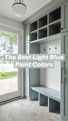 Painted Interior Doors, House Paint Interior, Home Interior Design, Light Blue Paint Colors, Light Blue Paints, Interior Color Schemes, Interior Paint Colors, Home Renovation, Home Remodeling