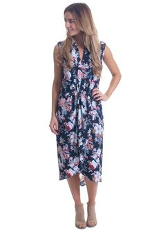 online shopping for Lucky Brand Women's Mixed Floral Dress from top store. See new offer for Lucky Brand Women's Mixed Floral Dress Floral Chiffon Maxi Dress, Blue Midi Dress, Ruffle Dress, Silk Dress, Dress Red, Kohls Dresses, Casual Dresses, Formal Dresses, Wedding Dresses