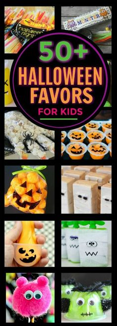 50+ HALLOWEEN FAVOR IDEAS FOR KIDS! These are awesome!
