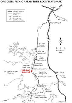 Oak Creek Picnic Areas: Slide Rock State Park, Sedona, AZ.