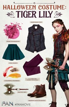 TIGER LILY OUTFIT FROM THE MOVIE PAN