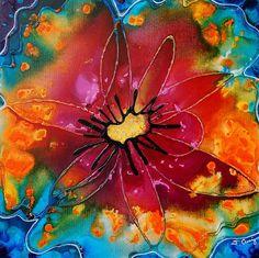 Buy Art Colorful Painting Abstract Flower Art Floral Tie Die Pink Red Orange Yellow Blue Canvas Summer - Summer Queen #cuadrosmodernos #buyart