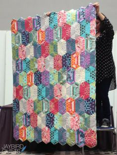 Disco quilt (Jaybird)  Fox Field fabric (Tula Pink) Scroll down and the pattern info is there