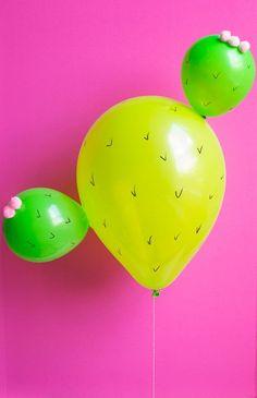 DIY Cactus balloons!